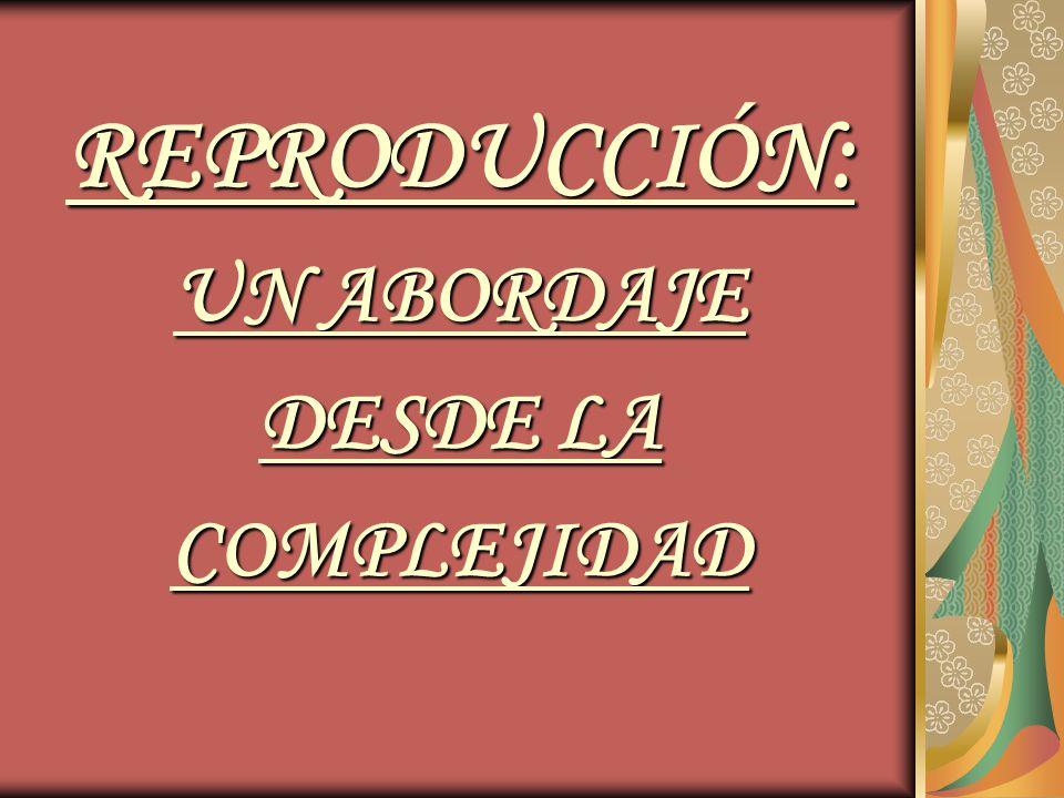 REPRODUCCIÓN: UN ABORDAJE DESDE LA COMPLEJIDAD