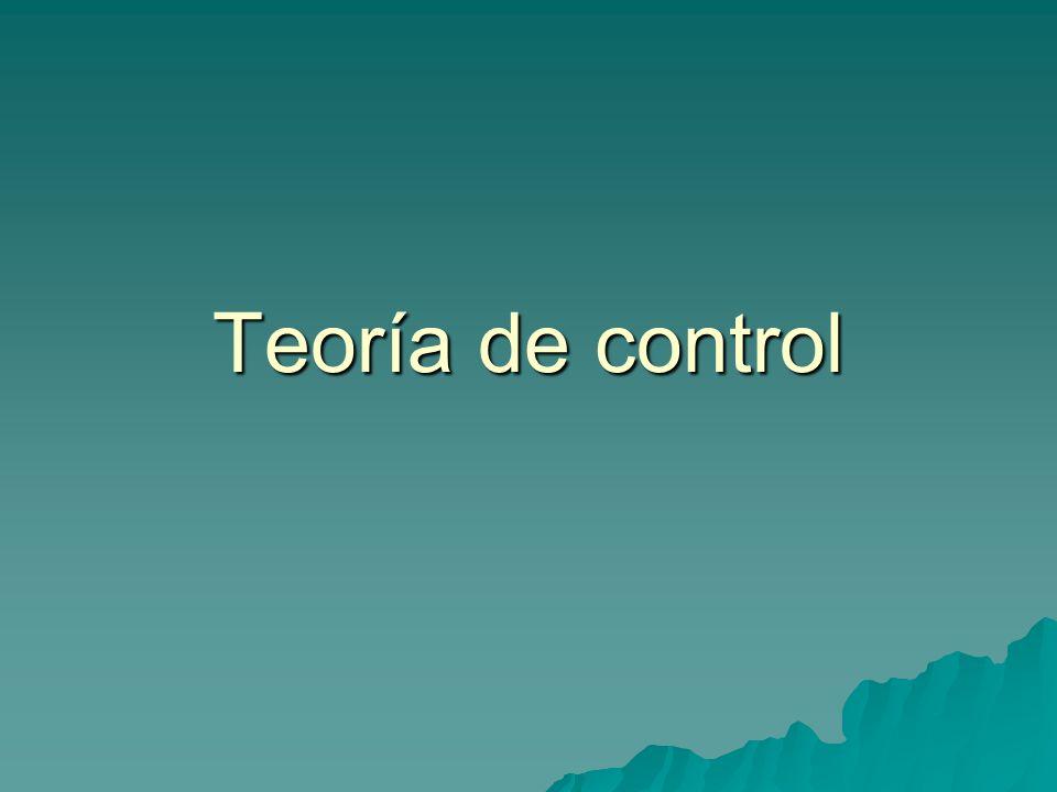 Teoría de control
