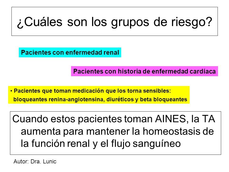 Autor: Dra. Lunic ¿Cuáles son los grupos de riesgo.