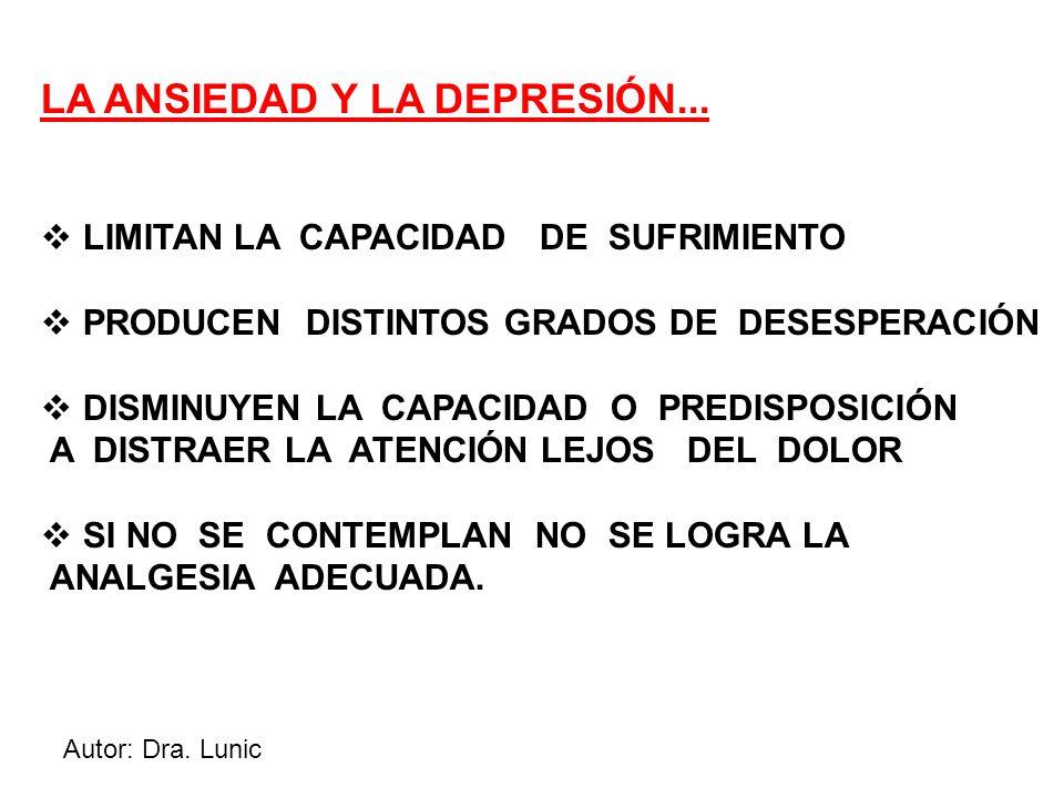 Autor: Dra. Lunic LA ANSIEDAD Y LA DEPRESIÓN...