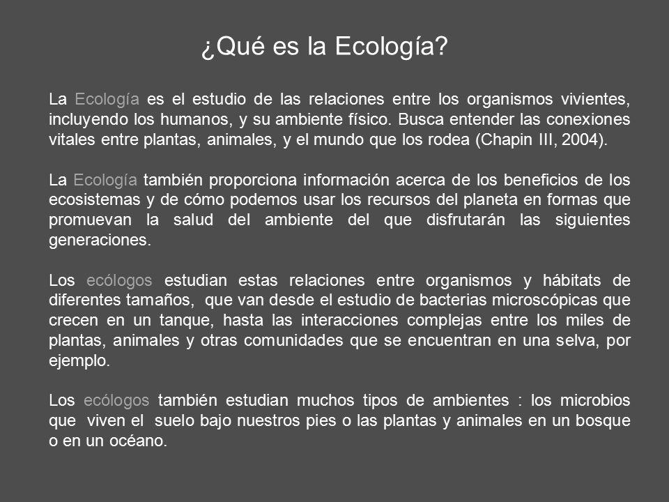 ¿Qué es la Ecología.