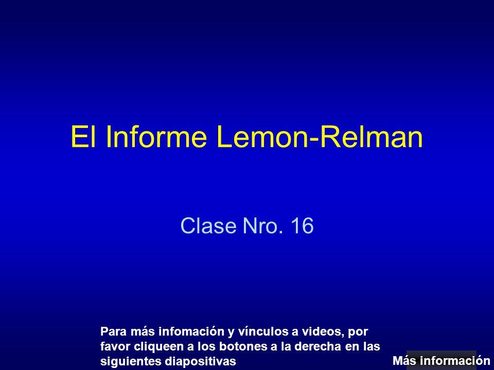 El Informe Lemon-Relman Clase Nro.