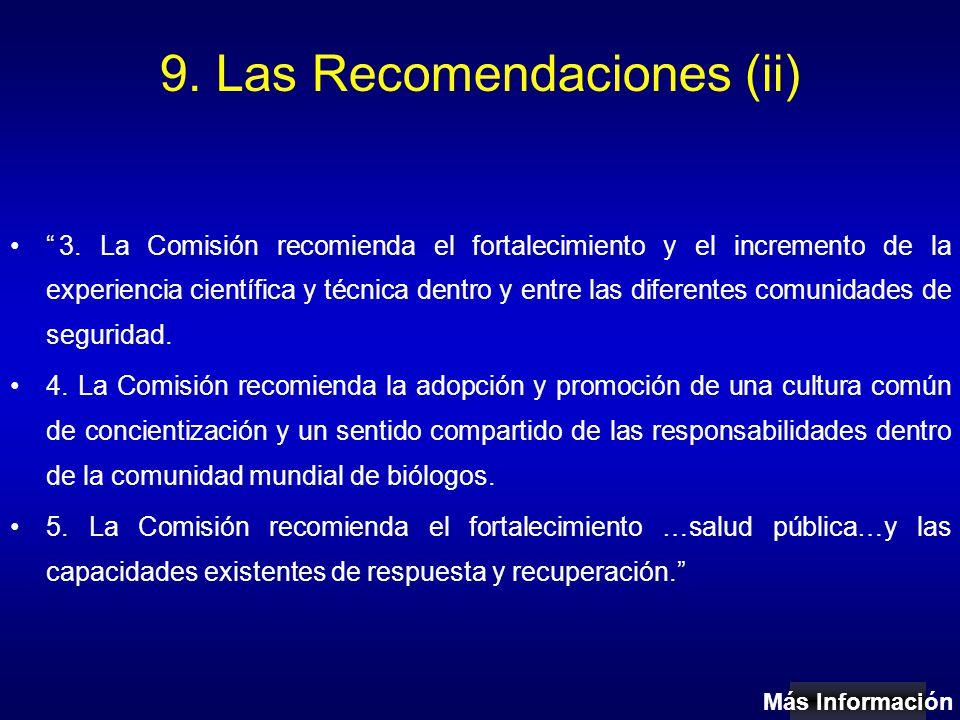 9. Las Recomendaciones (ii) 3.