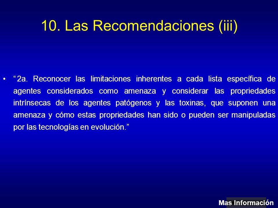 10. Las Recomendaciones (iii) 2a.