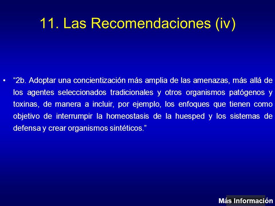11. Las Recomendaciones (iv) 2b.
