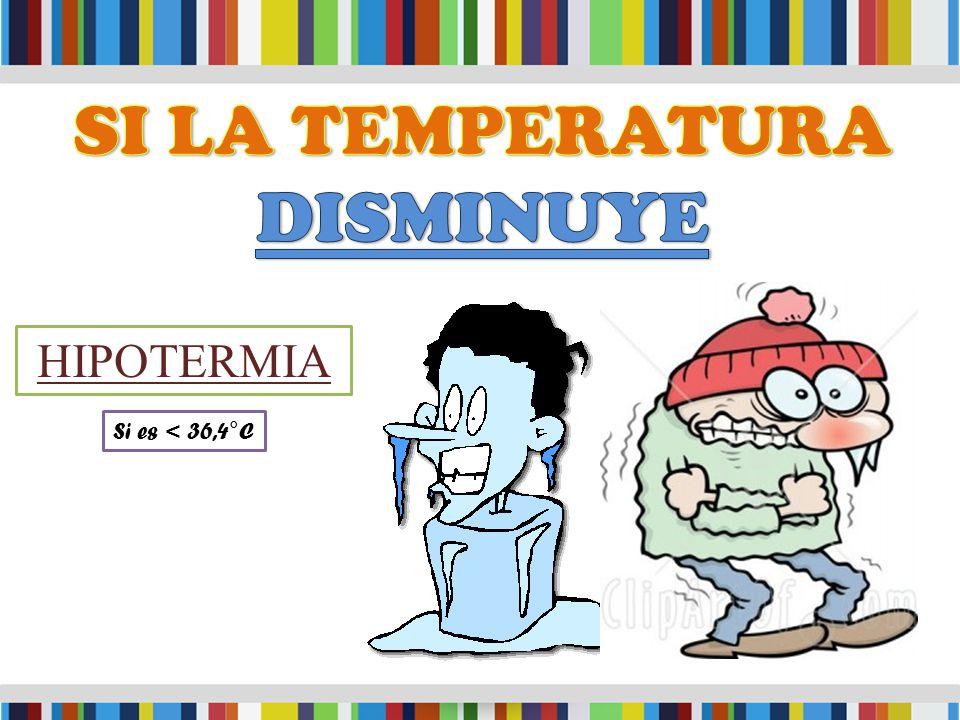 HIPOTERMIA Si es < 36,4°C
