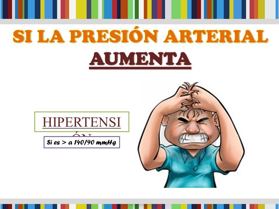 HIPERTENSI ÓN Si es > a 140/90 mmHg