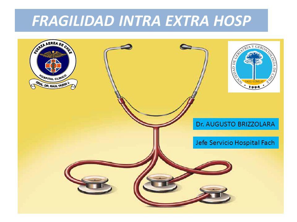 FRAGILIDAD INTRA EXTRA HOSP Dr. AUGUSTO BRIZZOLARA Jefe Servicio Hospital Fach