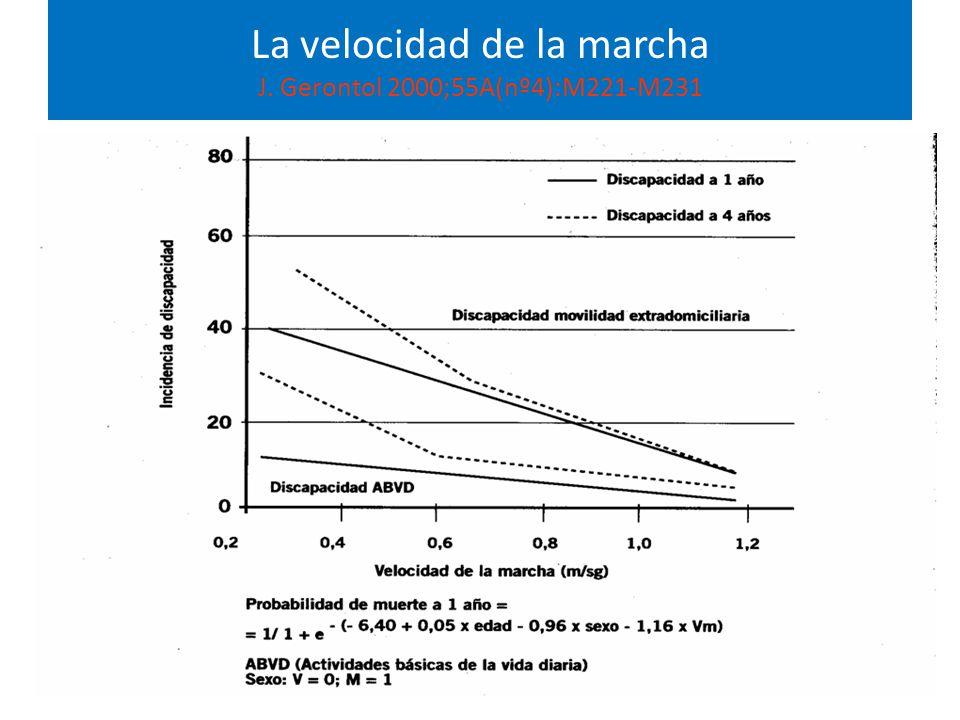 La velocidad de la marcha J. Gerontol 2000;55A(nº4):M221-M231