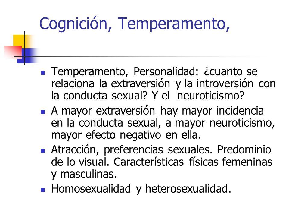 Cognición, Temperamento, Temperamento, Personalidad: ¿cuanto se relaciona la extraversión y la introversión con la conducta sexual.