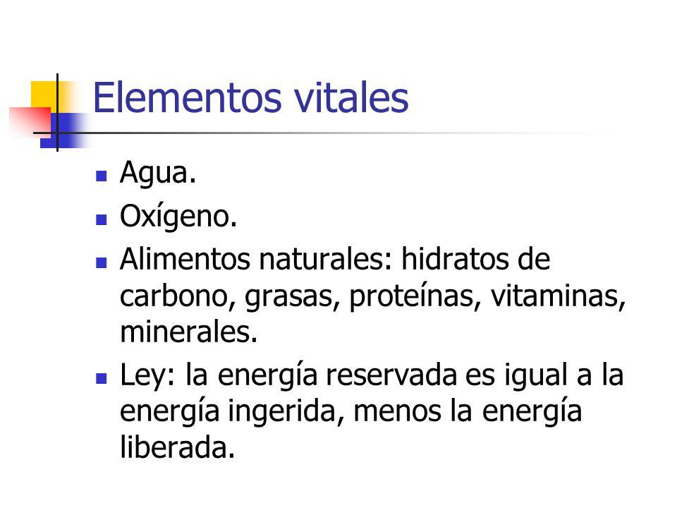 Elementos vitales Agua. Oxígeno.