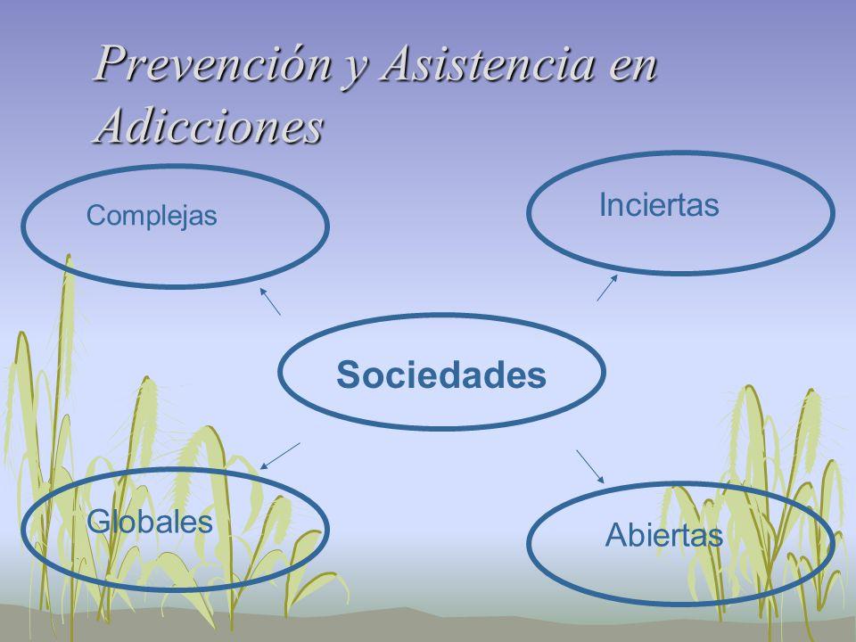 Prevención y Asistencia en Adicciones Sociedades Complejas Globales Abiertas Inciertas