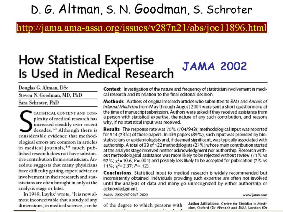 D. G. Altman, S. N. Goodman, S. Schroter JAMA 2002