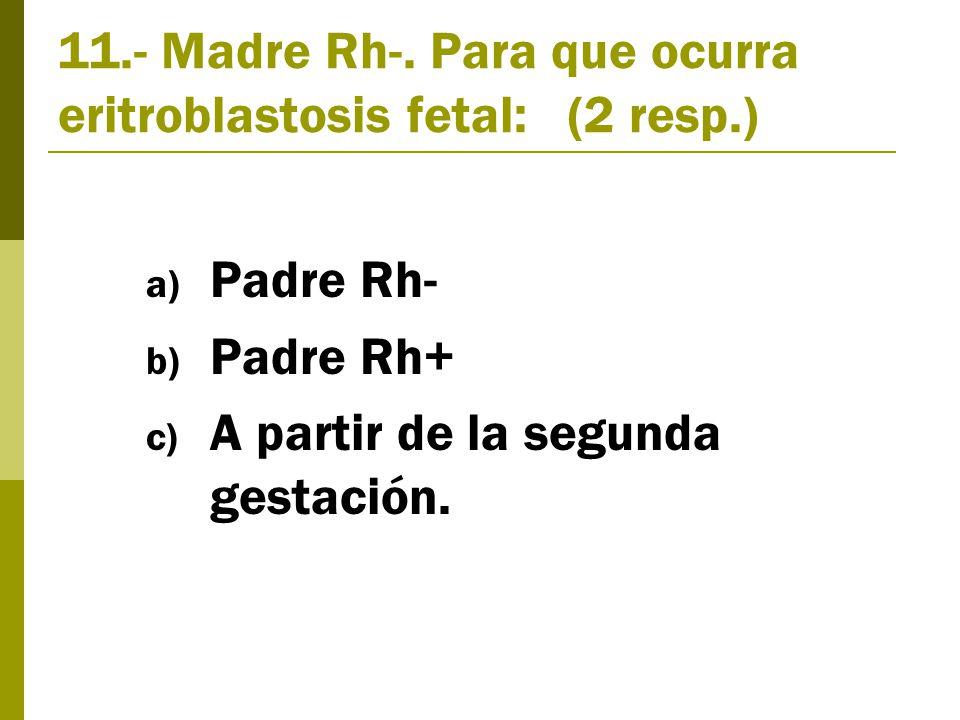 11.- Madre Rh-.