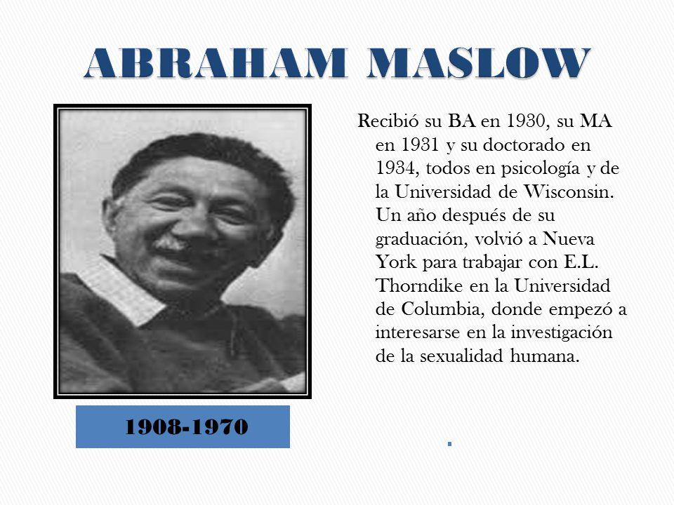 1908-1970 Recibió su BA en 1930, su MA en 1931 y su doctorado en 1934, todos en psicología y de la Universidad de Wisconsin.