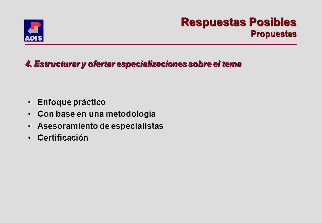 Enfoque práctico Con base en una metodología Asesoramiento de especialistas Certificación 4.