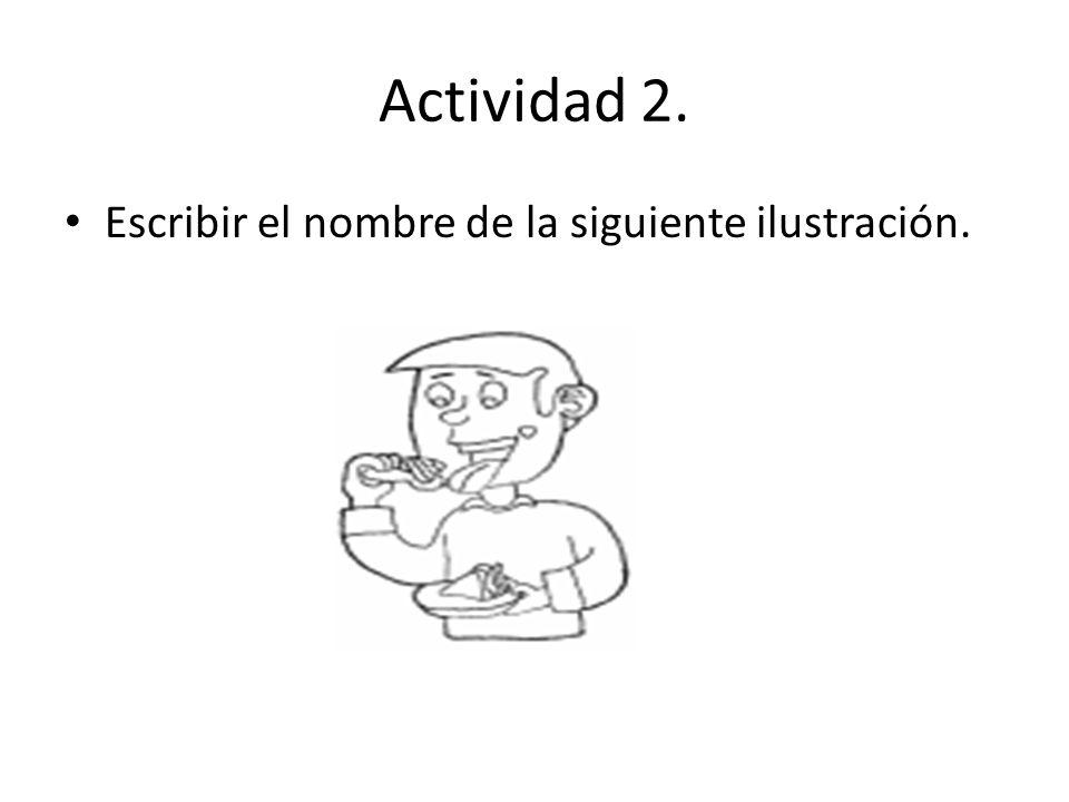 Actividad 2. Escribir el nombre de la siguiente ilustración.