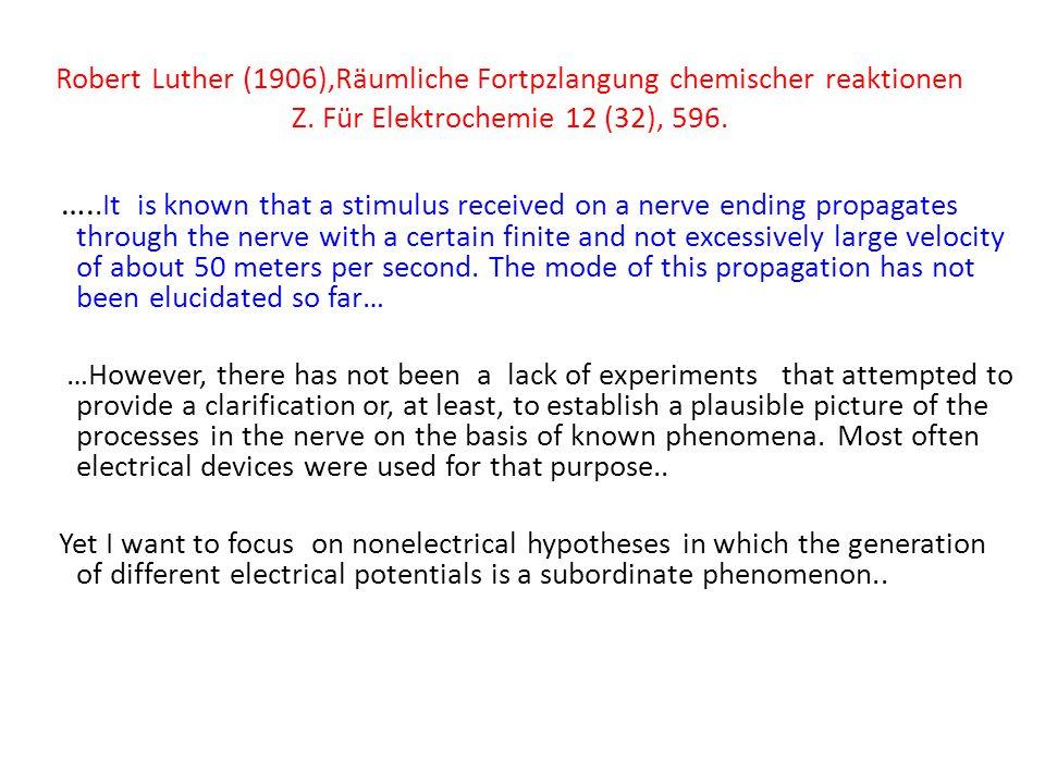 Robert Luther (1906),Räumliche Fortpzlangung chemischer reaktionen Z.
