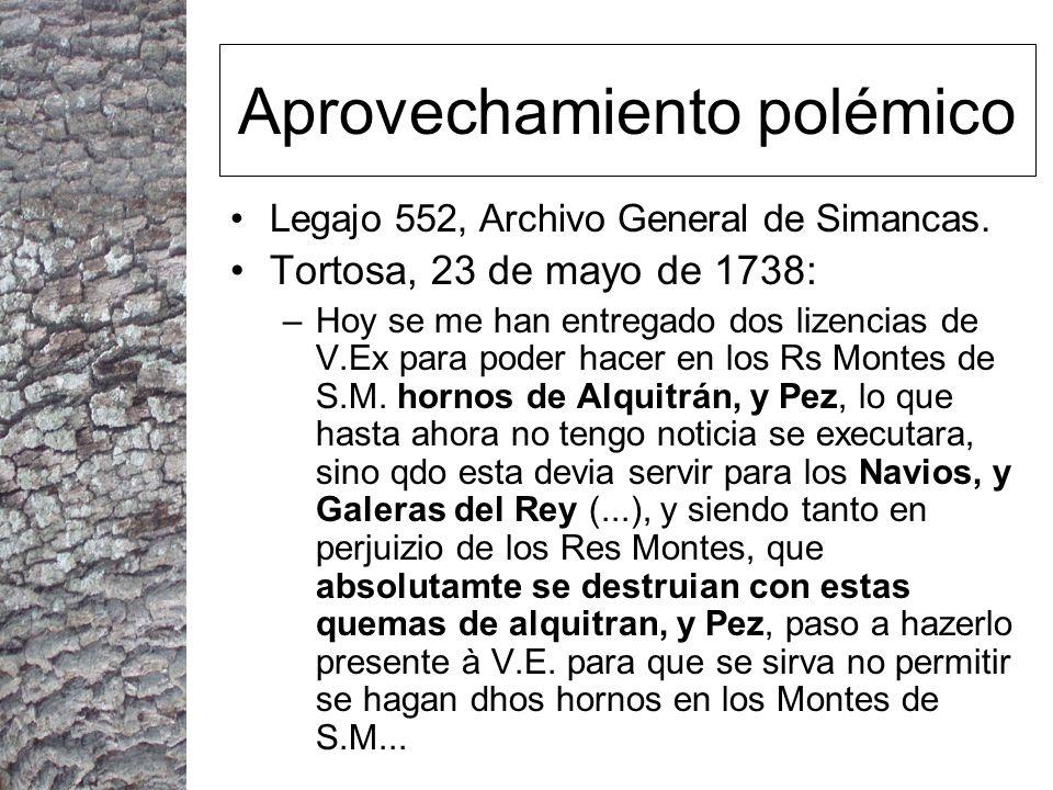 Aprovechamiento polémico Legajo 552, Archivo General de Simancas.