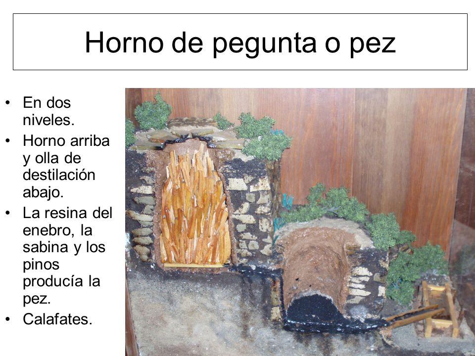 Horno de pegunta o pez En dos niveles. Horno arriba y olla de destilación abajo.