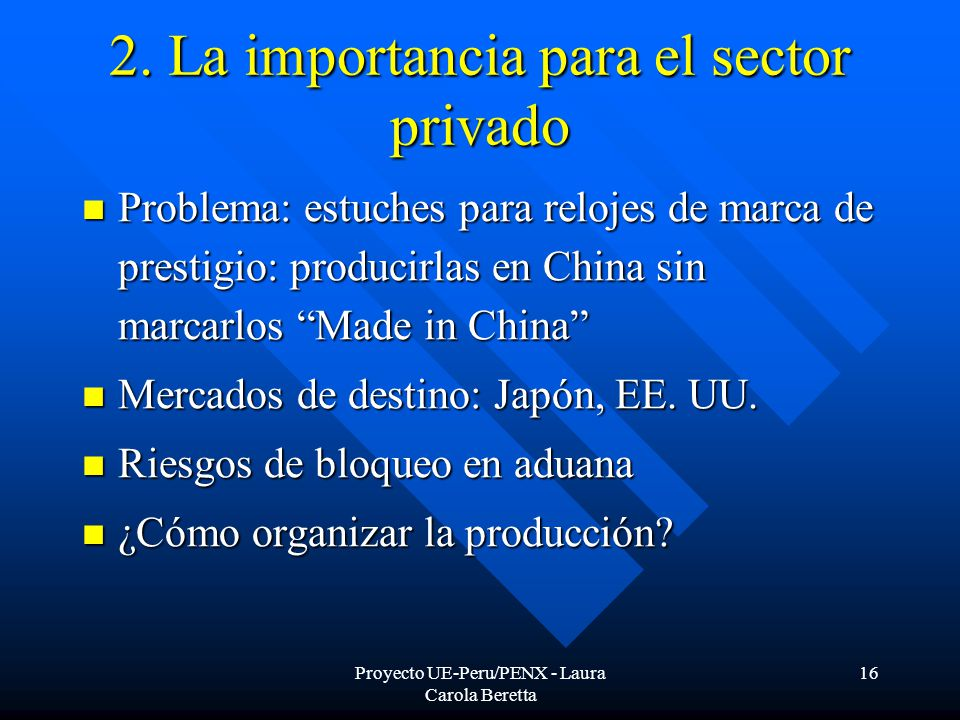 Proyecto UE-Peru/PENX - Laura Carola Beretta 16 2.
