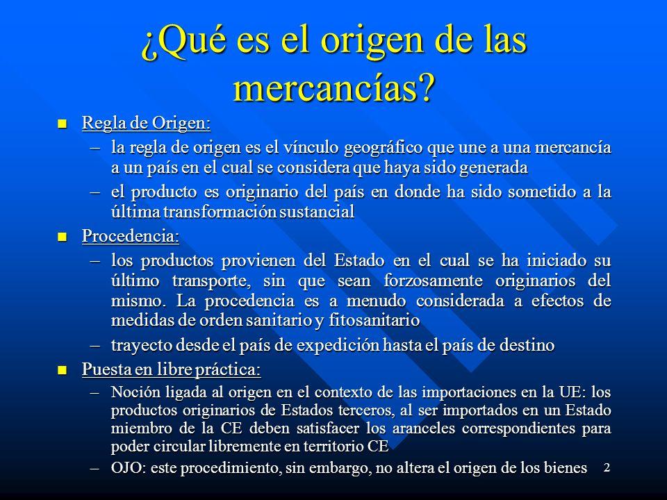 2 ¿Qué es el origen de las mercancías.