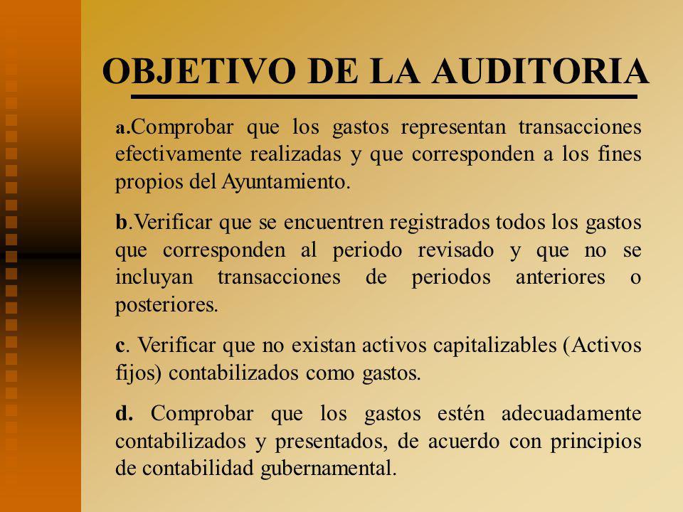 OBJETIVO DE LA AUDITORIA a.