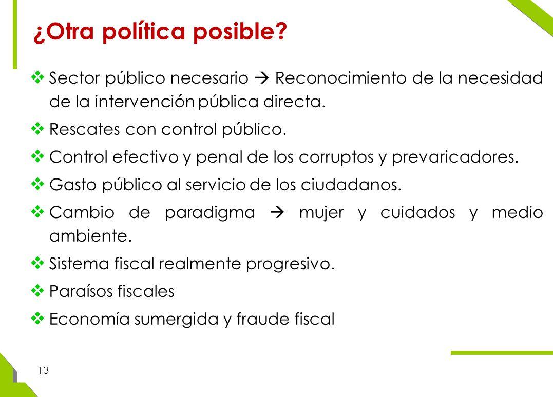 13 ¿Otra política posible.