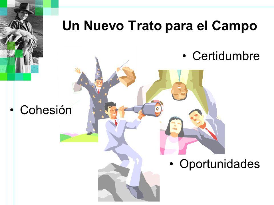 Un Nuevo Trato para el Campo Certidumbre Cohesión Oportunidades