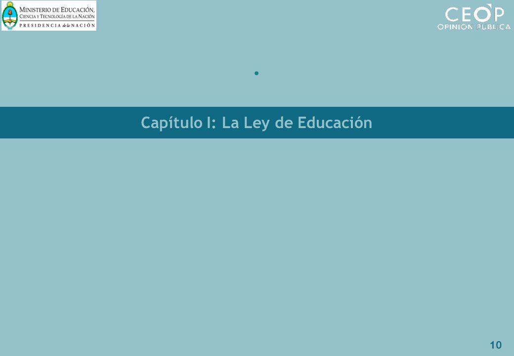 10 Capítulo I: La Ley de Educación