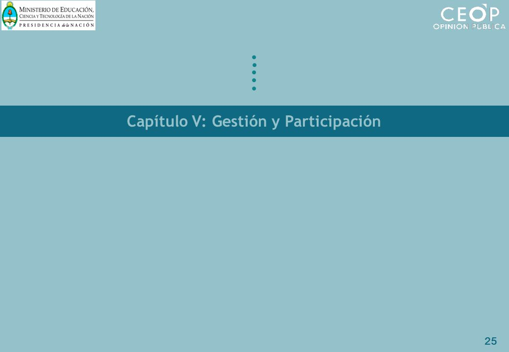 25 Capítulo V: Gestión y Participación