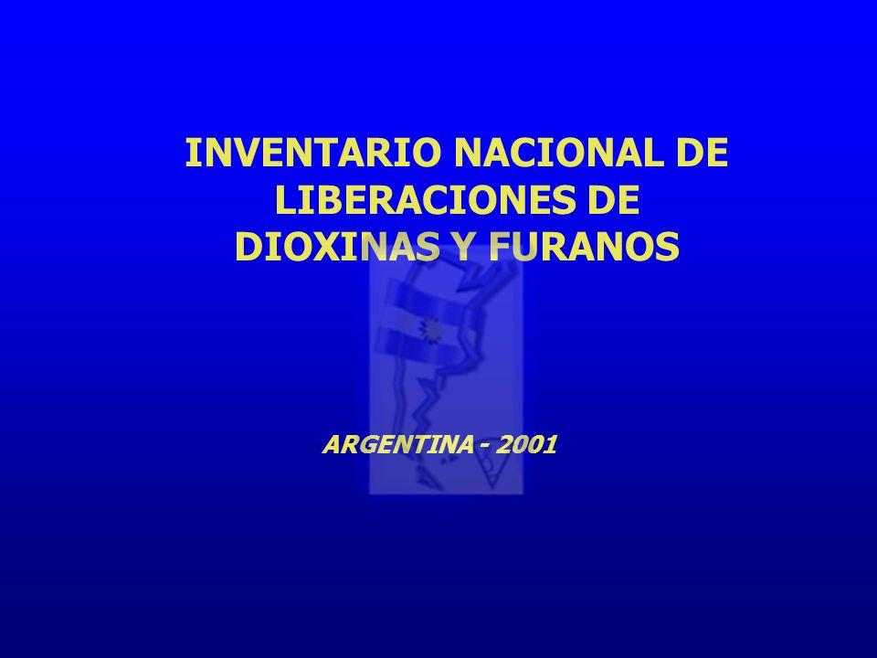 INVENTARIO NACIONAL DE LIBERACIONES DE DIOXINAS Y FURANOS ARGENTINA - 2001