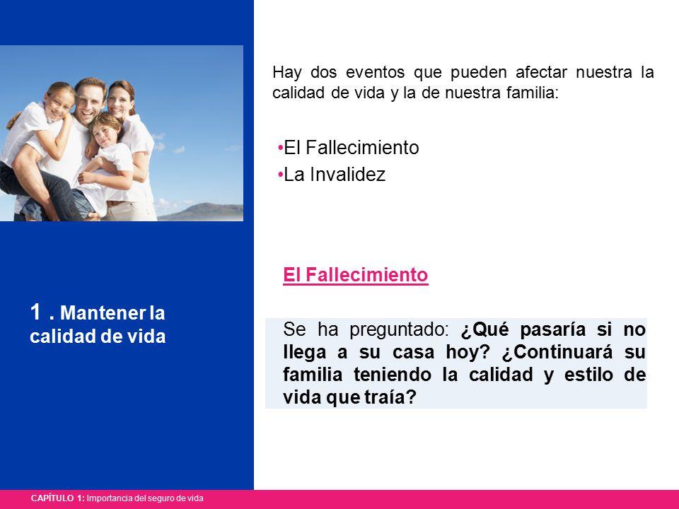 CAPÍTULO 1: Importancia del seguro de vida 1.