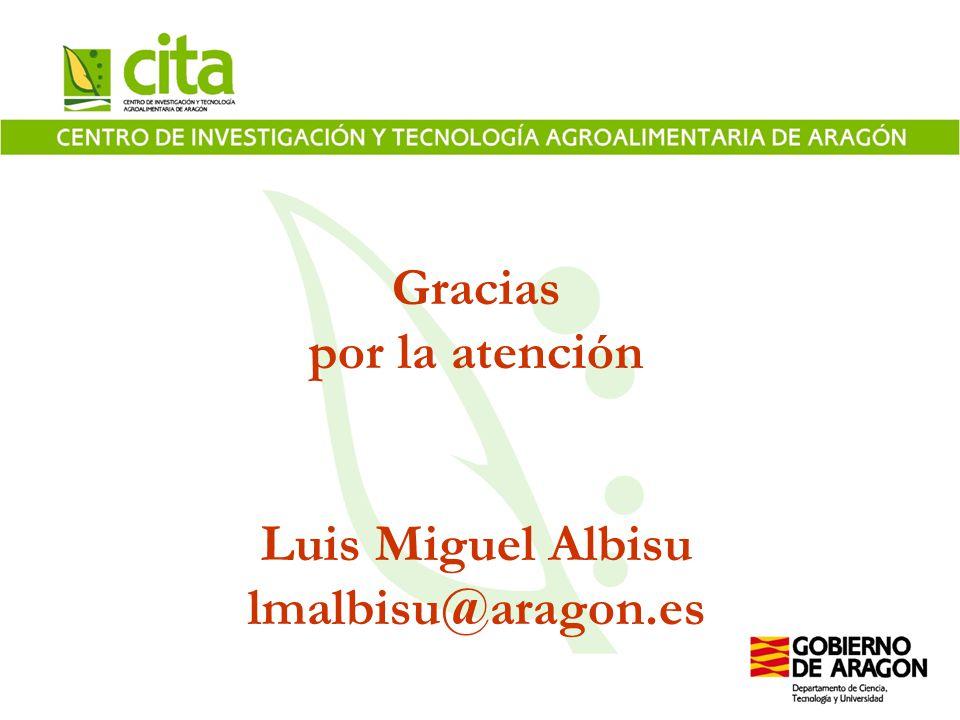 Gracias por la atención Luis Miguel Albisu lmalbisu@aragon.es