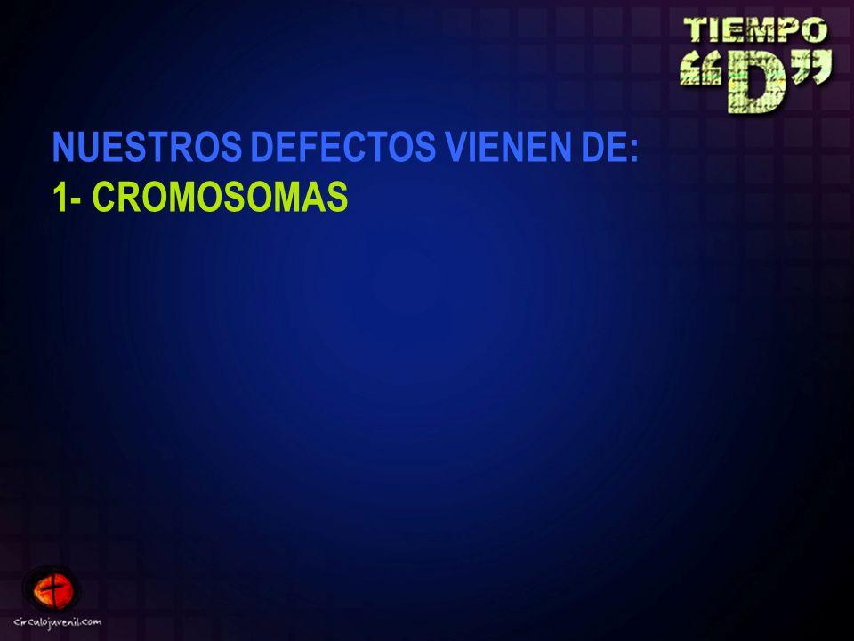 NUESTROS DEFECTOS VIENEN DE: 1- CROMOSOMAS