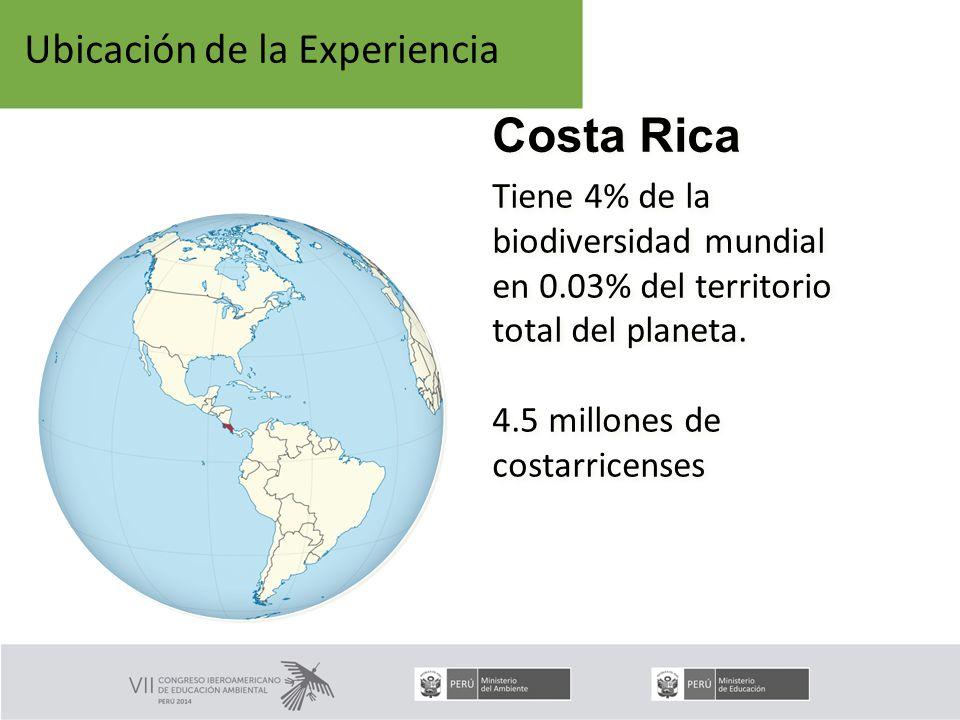 Tiene 4% de la biodiversidad mundial en 0.03% del territorio total del planeta.