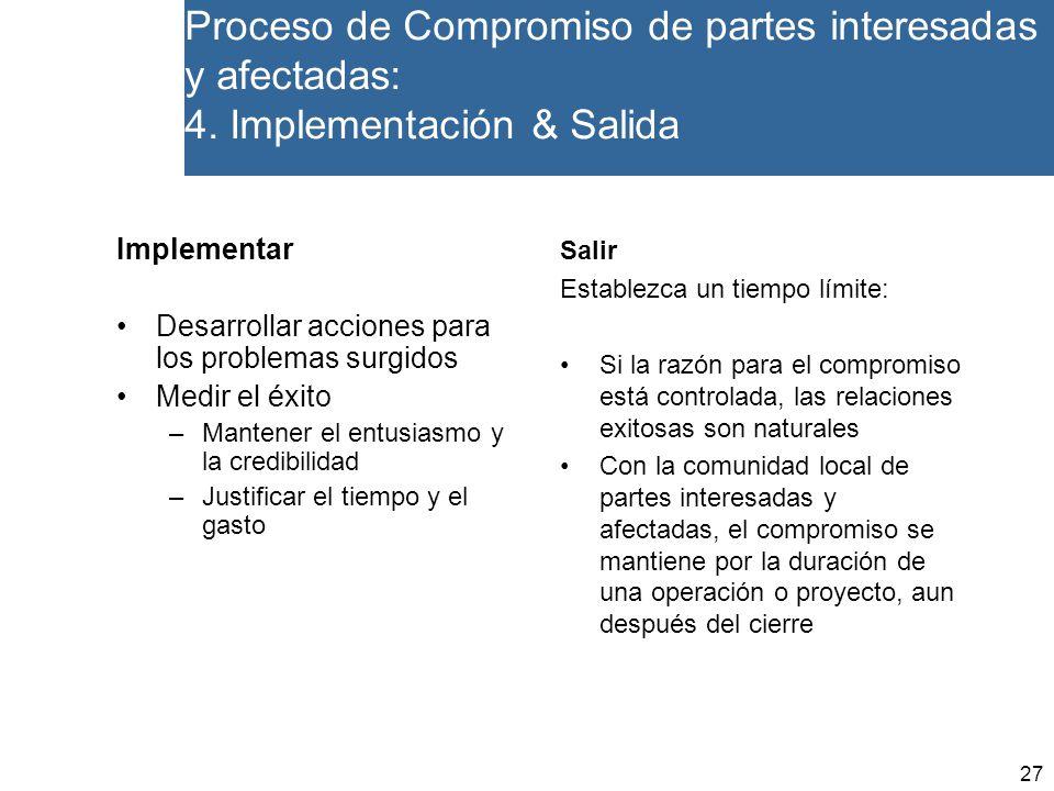 27 Proceso de Compromiso de partes interesadas y afectadas: 4.