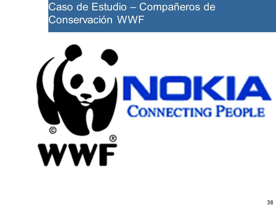 36 Caso de Estudio – Compañeros de Conservación WWF