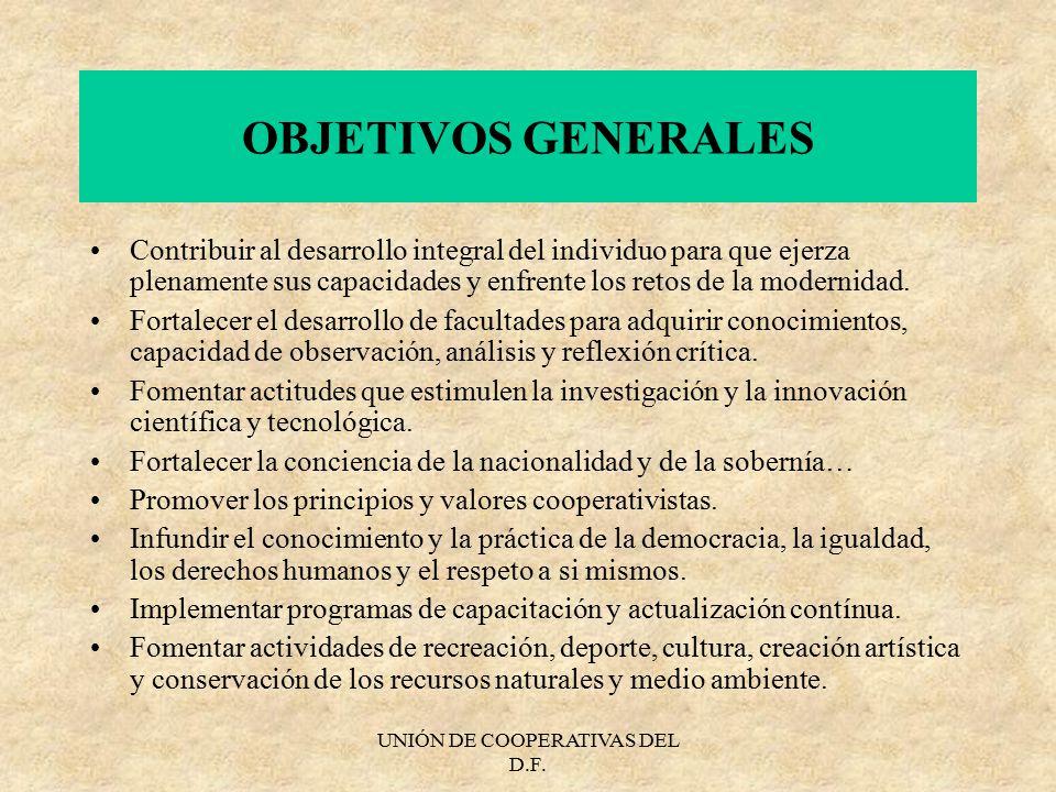 UNIÓN DE COOPERATIVAS DEL D.F.