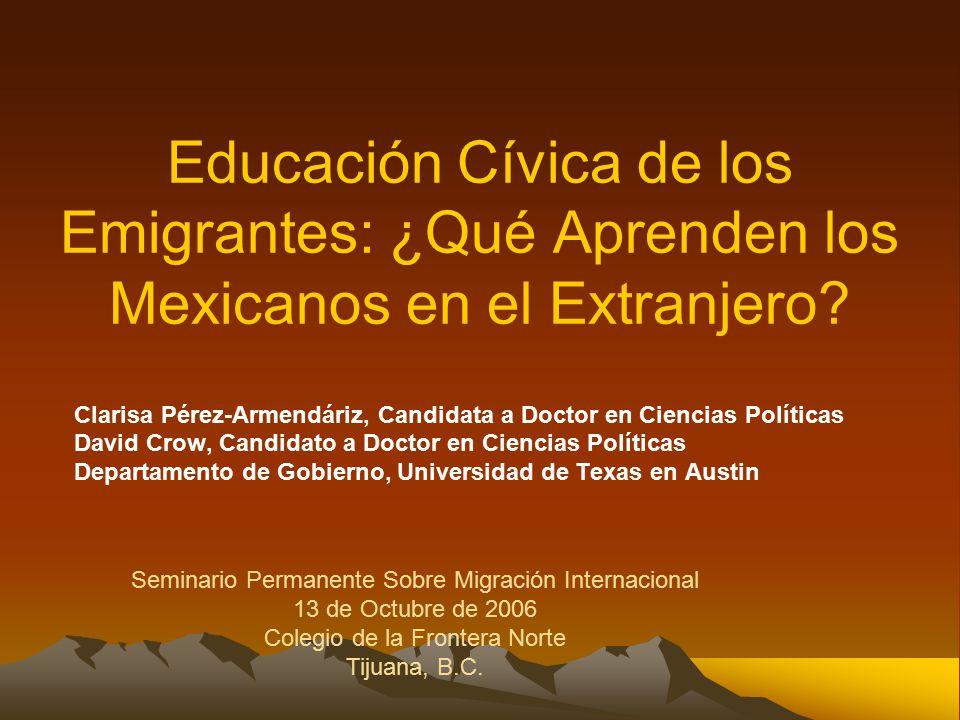 Educación Cívica de los Emigrantes: ¿Qué Aprenden los Mexicanos en el Extranjero.