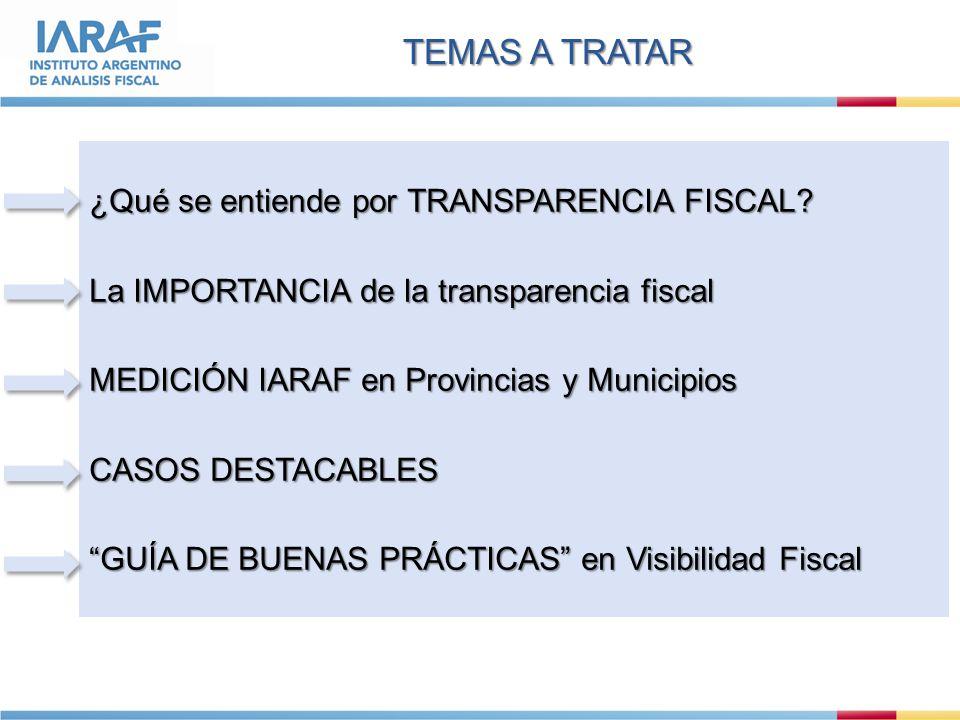 ¿Qué se entiende por TRANSPARENCIA FISCAL.