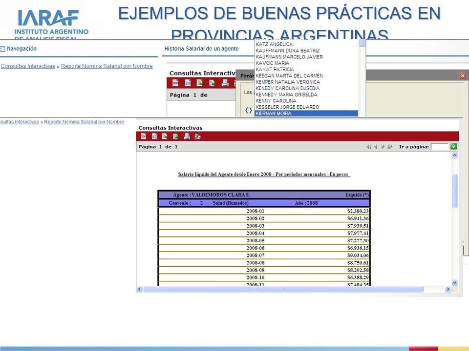 EJEMPLOS DE BUENAS PRÁCTICAS EN PROVINCIAS ARGENTINAS 6.Historia salarial en Tierra del Fuego