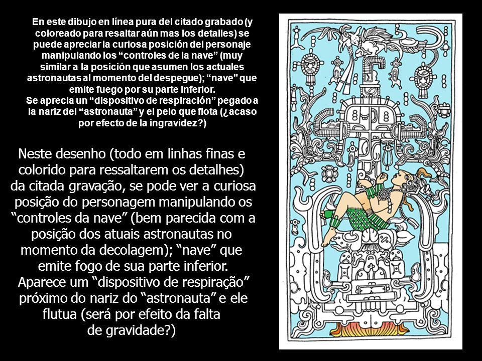 En 1949 el arqueólogo Alberto Ruz de L'huiller descubre, en un templo de la ciudad maya de Palenque (el Templo de las Inscripciones), en México, una tumba en cuyo interior estaba sepultado un importante personaje de una altura mayor a la de los mayas.