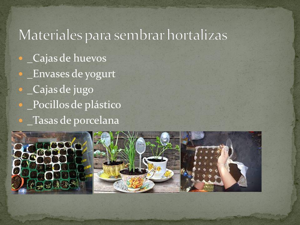 _Cajas de huevos _Envases de yogurt _Cajas de jugo _Pocillos de plástico _Tasas de porcelana