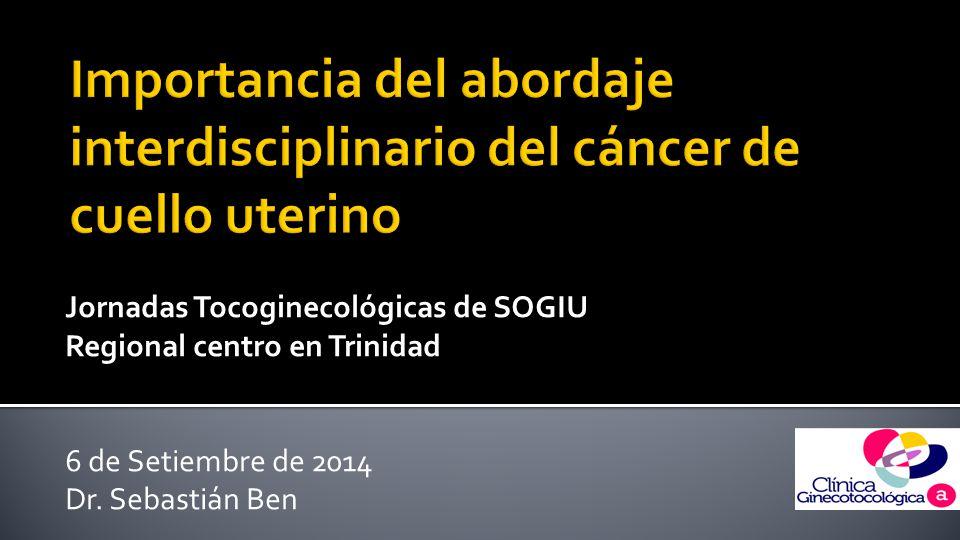 Jornadas Tocoginecológicas de SOGIU Regional centro en Trinidad  6 de Setiembre de 2014 Dr.