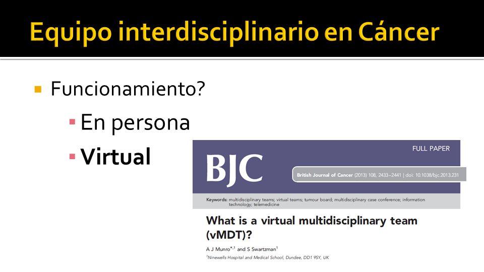  Funcionamiento ▪ En persona ▪ Virtual