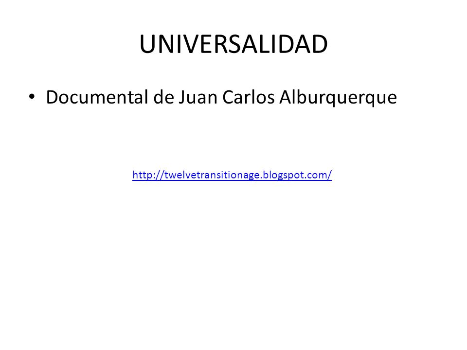 Documental de Juan Carlos Alburquerque http://twelvetransitionage.blogspot.com/