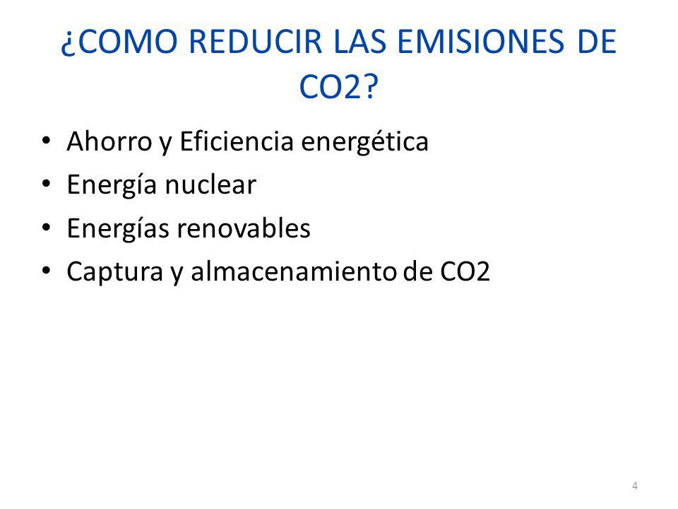 ¿COMO REDUCIR LAS EMISIONES DE CO2.