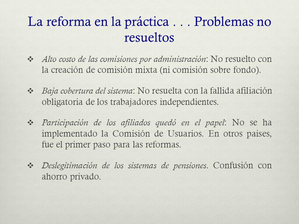 La reforma en la práctica...