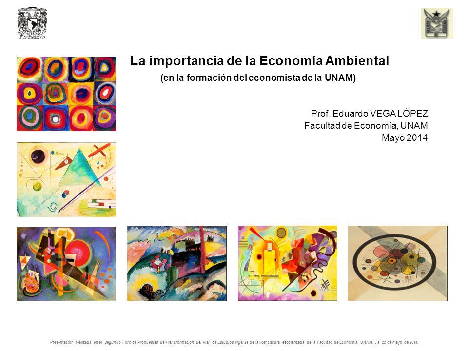 La importancia de la Economía Ambiental (en la formación del economista de la UNAM) Prof.